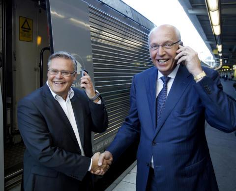 Sveriges resenärer får internet i expressfart: SJ och Telia inleder 4G-samarbete