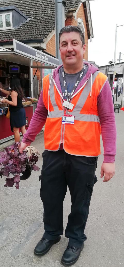 Flitwick gardening station manager Joe Healy