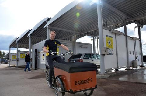 De valde elcykel istället för servicebil