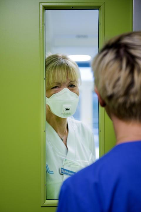 Sjuksköterskan Helene Andersson från infektionskliniken.