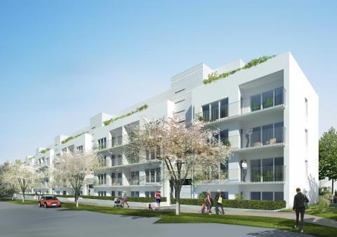 Veidekke byggstartar på uppdrag av Panorama 90 lägenheter i Sollentuna