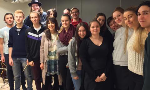 Workshop med Marit Bergman på Stockholms Estetiska Gymnasium