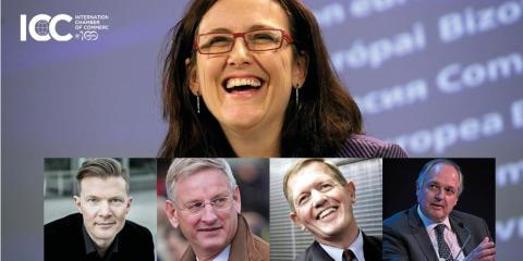 H.M. Konungen delar ut ICC-medalj till Cecilia Malmström
