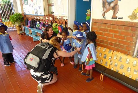 Starka intryck från Espiras förskola i Zimbabwe