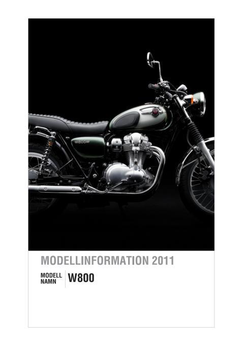 Modellinformation Kawasaki W800