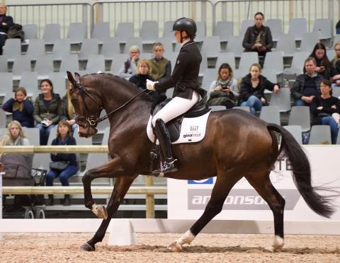 Marina Mattsson och Fireball Macohl under sin vackra ritt.