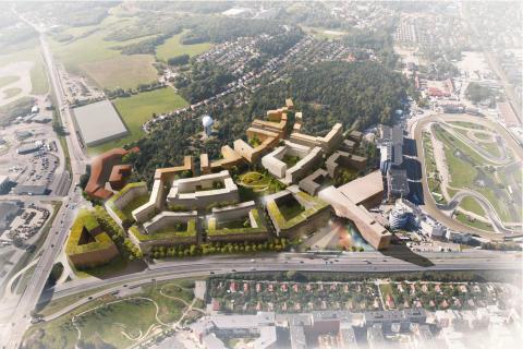 Stadsbyggnadsnämnden klubbar 2000 nya bostäder i ny stadsdel