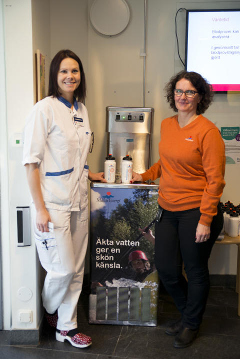 Mälarenergi förser patienter på Västerås akutmottagning med äkta kranvatten