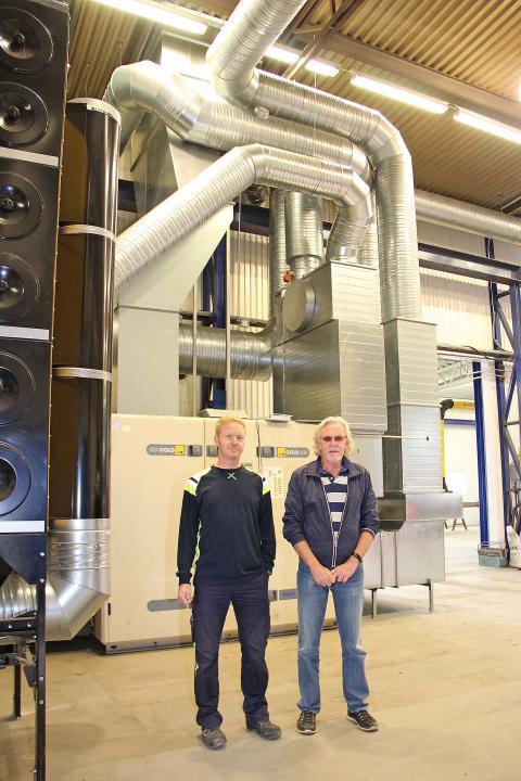 Hälsosam och ekonomisk ventilation installerad hos Sitab i Sandviken