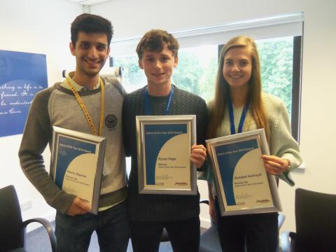 Celebrating 'Intern of the Year 2016' at Mondelēz International's Global Science Centre