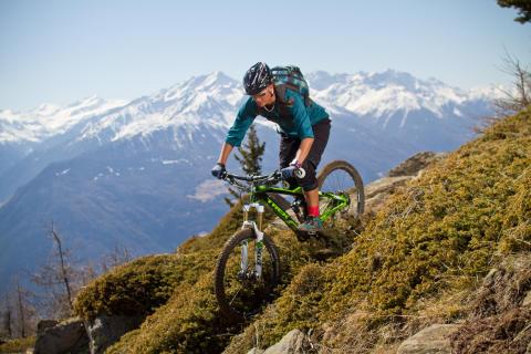 Mountainbike Trails in luftiger Höhe