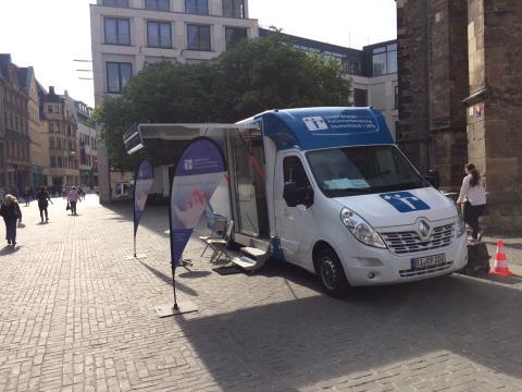 Beratungsmobil der Unabhängigen Patientenberatung kommt am 25. September nach Halle (Saale).