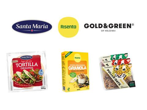 Santa Maria, Risenta och Gold&Green samlas under ett tak i nya Paulig Foods