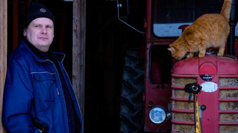 Samlaren Stefan håller veterantraktorer vid liv