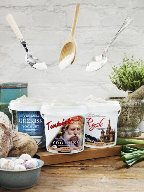 Grekisk, turkisk och rysk yoghurt