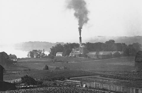 Historisk bild av Barnängen på Södermalm