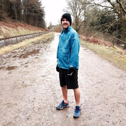 Paul Plowman at running training with BBC One's Mind Over Marathon