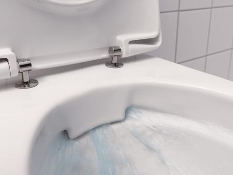 Toalettstol utan kant