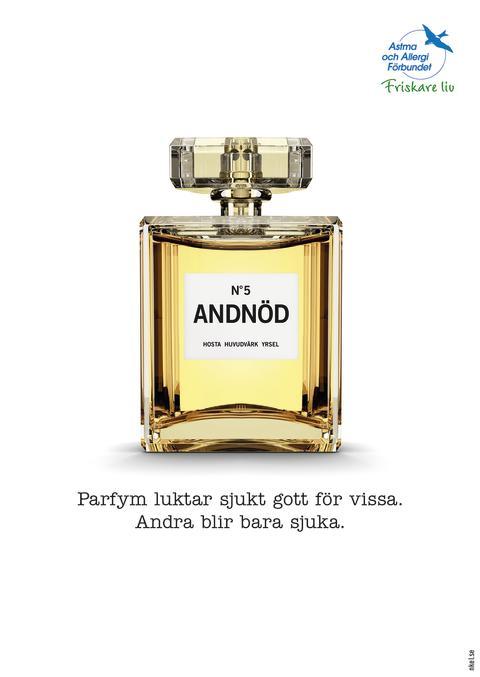 Parfym luktar sjukt gott för vissa, andra blir bara sjuka