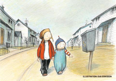 Empati och syskonkärlek i När vi var ensamma i världen