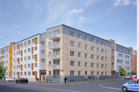 Ikano Bostad bygger 250 nya bostäder i Barkarbystaden