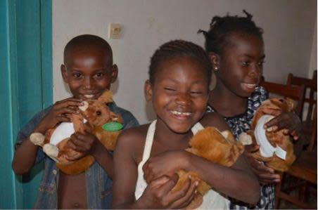 Tinas leverans av ekorrar har kommit fram till barnen i Bangui