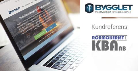 Kundreferens: Rörmokeriet KBA AB har fått ett effektivare arbetssätt tack vare Bygglet