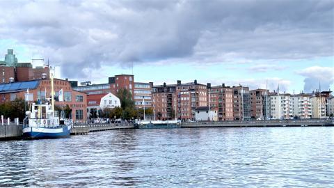 Den flytande återvinningscentralen kommer att lägga till bland annat här vid Eriksberg här