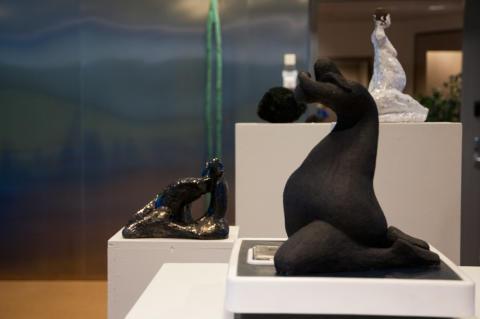 Teiskan veistoksia Kiillon taidenäyttelyssä
