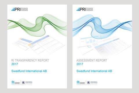Swedfund placerar sig återigen i toppskiktet i UN PRI-rapportering