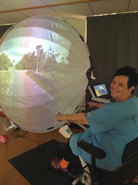 Virtuell cykeltur stärker minnet