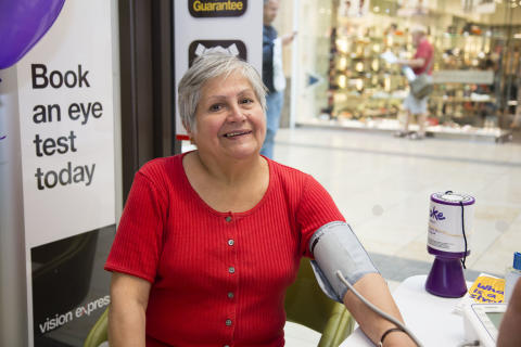Local Cambridge residents join free blood pressure event as part of Vision Express and Stroke Association healthcare initiative