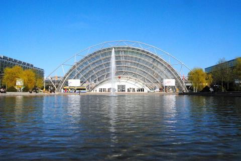 Glashalle der Leipziger Messe