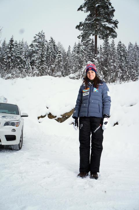 """""""Her er tomta mi!"""" Heidi Wengs ny hus blir stående bare noen meter fra lysløypa på Lillehammer"""