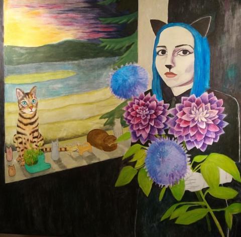 Målning av Mikaela Elf