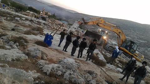 Cisterne ødelæggelse i Al Ganoub