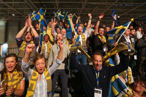 Svenska hejarklacken under Kock-EM i Budapest, Bocuse d'Or Europe 2016