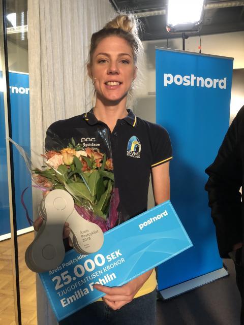 Emilia Fahlin Årets Postcyklist 2018