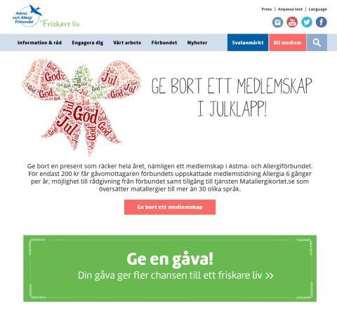 Astma- och Allergiförbundet lanserar ny hemsida