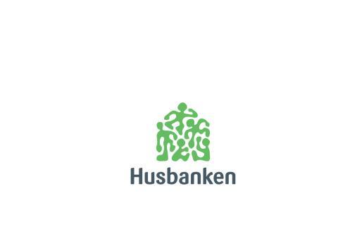 Husbankens logo, midtstilt (CMYK)