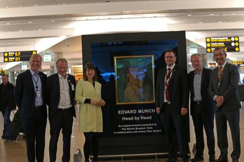 Munch-utstilling på Oslo lufthavn