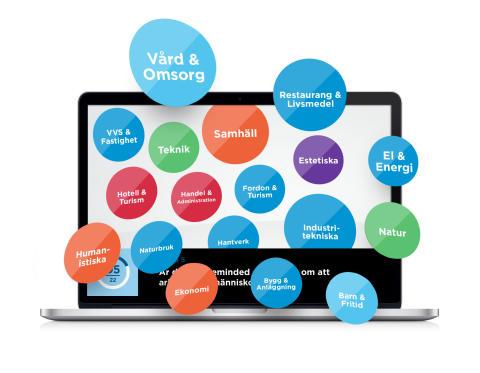 Facebookintegrerat webbtest som ska vara vägledande i gymnasievalet.