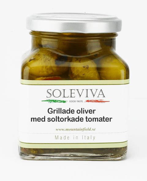 Grillade oliver med soltorkade tomater