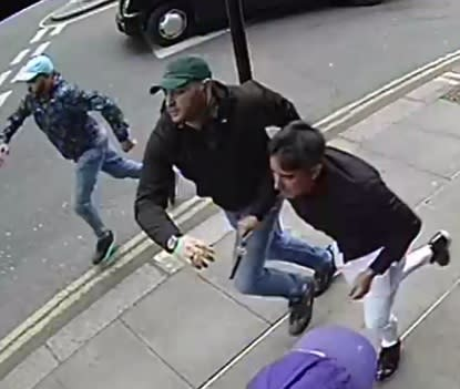 Images of men police wish to identify