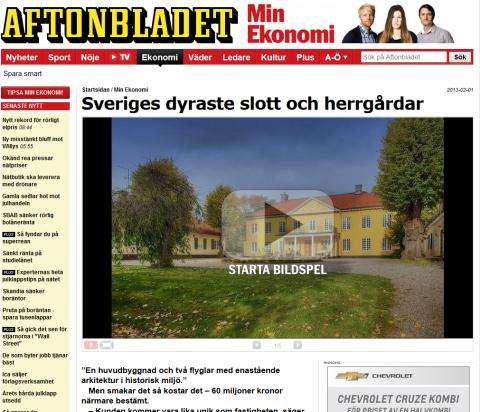 Sveriges dyraste slott och herrgårdar