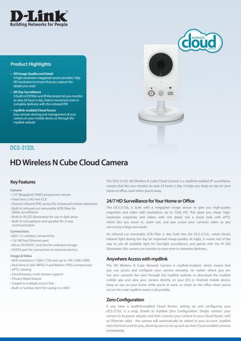 Produktblad - DCS-2132L