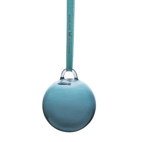 Julekule i glass blå uten slip 60 mm