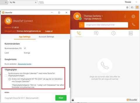 ShoreTel integrerar fullt ut med Google Chrome
