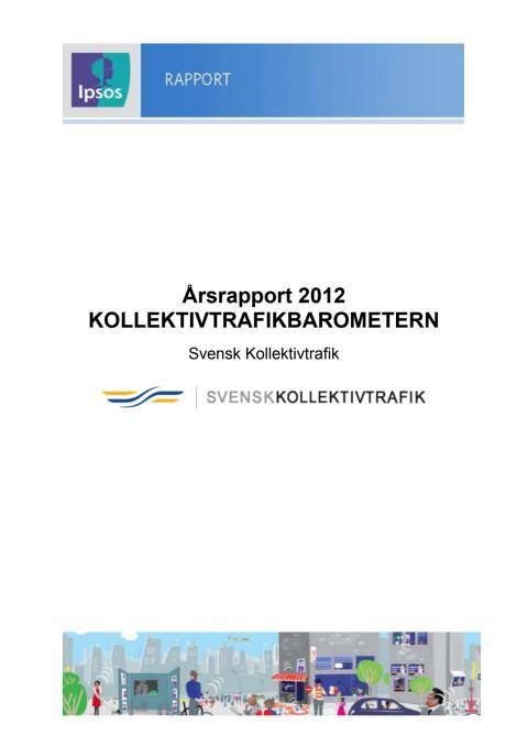 Årsrapport Kollektivtrafikbarometern 2012