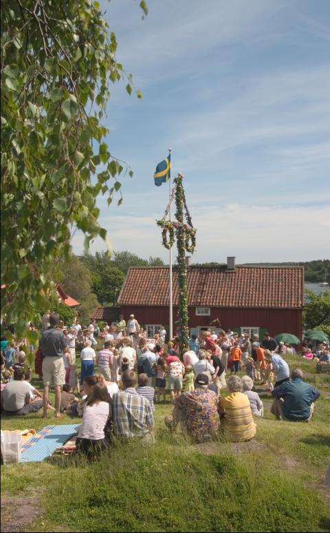 Midsommarfirande i Gamla Oxelösund